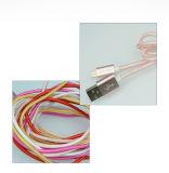 인조 인간과 Ios 셀룰라 전화를 위한 1개의 데이터 케이블 유연한 USB 다중 충전기 데이터 케이블에 대하여 직접 공장 2