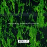 configuration rouge de flamme de largeur de 1m, Hydrographics, impression de transfert de l'eau, films liquides d'image de PVA pour les postes extérieurs et canons (BDS233-3A)