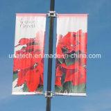 El montaje de la bandera de poste de la calle del metal que hace publicidad de la visualización parte (BT85)