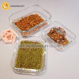 Palstic 뚜껑을%s 가진 정연한 냉장고의 야채 보전실 Microwavable 음식 저장 유리제 단지
