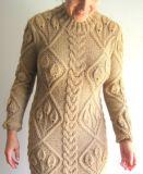 Handmade Hand Knit Mulheres Senhoras Warm Wool Evening Winter Dress