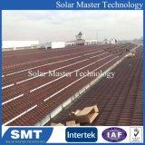 Support de montage du système solaire avec crochet de tuiles en argile5 vitrée toit tuile solaire pour l'énergie solaire Système de montage