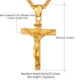 Dwars Kruisbeeld Jesus Piece Pendant Necklace voor Mensen