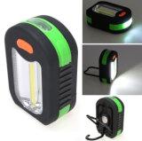 Couleurs assorties 5W 350lm COB + lampe torche 3 LED LED électronique de plein air Camping / d'urgence / tente avec crochet de pivotement de la Flamme de Lumière et l'aimant