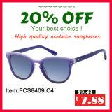 Acetaat en Hoogste Nieuwe Goede Kwaliteit Dame Sunglasses (FCS8409)