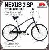 26メンズ3速度浜の巡洋艦の自転車