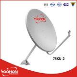 antenna di derivazione del riflettore parabolico della fascia di 75cm Ku, antenna esterna della TV