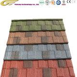 Matériau de construction tuile de toit de bardeaux d'asphalte Stone tuile Coatedsteel