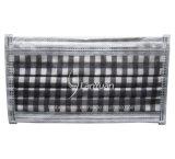Paquet Single-Piece noir et blanc grand motif à carreaux masque facial