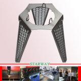 Präzisions-schwarzes Puder-umhülltes Blech-Metallherstellung-Flansch mit dem Verbiegen und Laser-Ausschnitt