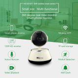 Intercomunicador de Voz Bidireccional Câmera de vigilância de vídeo IP sem fio com 64GB TF Card