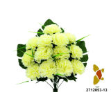 인공 적이고 Plastic/Silk Flower Carnation Lying 부시 (2712053-13)