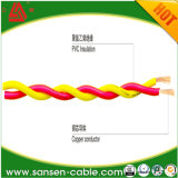 Pvc van Rvs isoleerde de Flexibele Tweeling Verdraaide Kabel van het Paar van de Elektro/Stroom Kabel Verdraaide