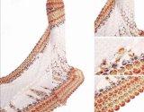 Retro elegante Dame Banquet Dress, roter Teppich-Stickerei-Entwurfs-Kleid-Spitze-Gewebe mit Punkt-Muster