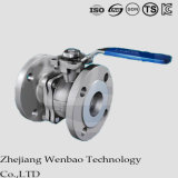 ANSI 2PC en acier inoxydable bride Floating Ball Valve Class150