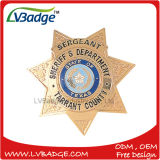 Pin barato de la aduana de la fuente, divisa del sheriff del metal