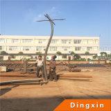 Jardín de la iluminación de acero de 4,5 m, Pole con un solo brazo, el doble de las armas, cuatro brazos