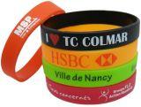 Braccialetto con il marchio dell'inchiostro del materiale di riempimento, Wristband del silicone, Wristband del silicone del tessuto