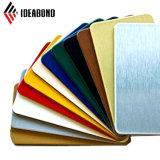 Свежие цвета полиэстер внутренняя окраска декоративной панели Алюминиевый композитный