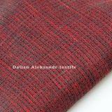 100%Doulble lino hilado teñido de tejidos Garemnt lateral