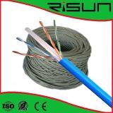 Twisted pair non protégé CAT6 de câble de réseau