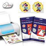 Het gegoten Met een laag bedekte A4 Document van de Foto van Inkjet Glanzende met Sticker