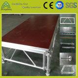 Этап алюминия случая переклейки оборудования этапа представления деятельности регулируемый гибкий
