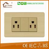 Fait dans la prise murale électrique de la Chine 3pin