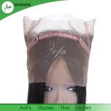 Plein de cheveux humains de la cuticule tout droit pour annuler le traitement de Remy Hair 360 Frontals