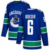 2018 Nova Marca homens Lady Kid Vancouver Canucks 55 Alex Biega 36 Ryan White 26 Thomas Vanek 6 Brock Boeser qualquer nome personalizado azul & N. Hockey camisolas