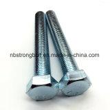Vis à tête hexagonale DIN933 Gr. 8.8 avec plaqué zinc blanc Cr3+ M14x70