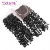 Closureの等級7A Malaysian Curly Hair