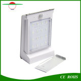 16 Solar Powered LED recargable en la pared Sensor PIR de la luz de lámpara solar jardín exterior IP65 con batería reemplazable