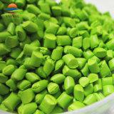 Masterbatch de color verde de plástico