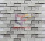 Mattonelle di mosaico utilizzate parete bianca della corrispondenza e grigia (CFS703)