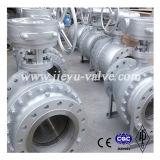 DIN PN16 DN100 de acero al carbono palanca accionada válvula de bola