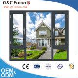 Aluminiumflügelfenster Windows mit aufgebaut im Vorhang-Innere-Doppelt-Glasfenster
