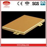 Bekleding van de Muur van het Comité van het Aluminium van de Kleur van de hoogste Kwaliteit de Gouden