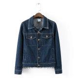 Ретро и сексуальная женская оптовая продажа куртки джинсовой ткани