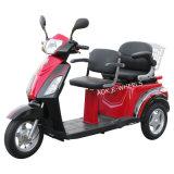 Triciclo elétrico prolongado de 500W, scooter elétrico de 3 rodas com selas duplas de luxo (TC-018B)