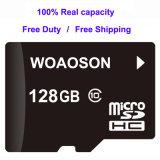 고속 주문을 받아서 만들어진 로고 64GB TF 메모리 카드 100%년 수용량 32GB SD 마이크로 컴퓨터 카드