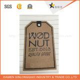 Impressão de rótulos de etiquetas de papel artesanal Veste roupa pendurada Tag personalizada