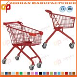 Wire Metal Child Supermarket Shopping Cart Trolley on Wheels (Zht170)