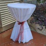 新しいデザイン白いジャカードカクテルクラブ高いテーブル掛けの布Yc-090