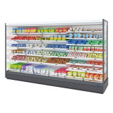 El aumento de la capacidad de carga vertical de supermercados Refrigeratorv Multideck Vertical Refrigerador de pantalla