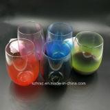 Constructeurs en plastique en verre de boissons de cuvette de jus de 16 onces en Chine