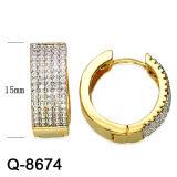 새로운 디자인 금관 악기 보석 귀걸이 Huggies 도매