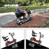 Las cuatro ruedas Scooter de movilidad eléctrica plegable