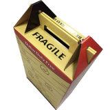 Большой ящик бумагу упаковки коробки с ручкой