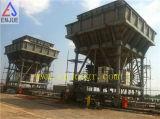 Port de déchargement du fret mobile Pneu en caoutchouc ECO Rail-Mounted Dedusted Hopper